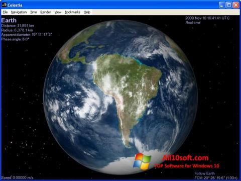 Στιγμιότυπο οθόνης Celestia Windows 10