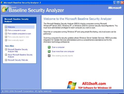 Στιγμιότυπο οθόνης Microsoft Baseline Security Analyzer Windows 10