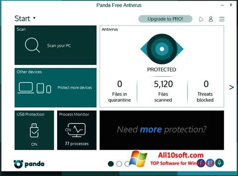 Στιγμιότυπο οθόνης Panda Windows 10