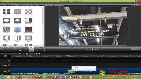 Στιγμιότυπο οθόνης Camtasia Studio Windows 10