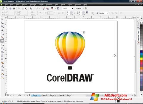 Στιγμιότυπο οθόνης CorelDRAW Windows 10