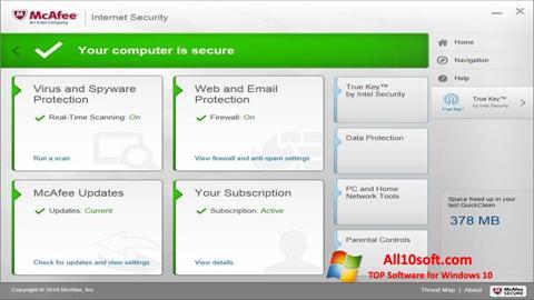 Στιγμιότυπο οθόνης McAfee Windows 10