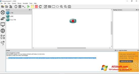 Στιγμιότυπο οθόνης GNS3 Windows 10