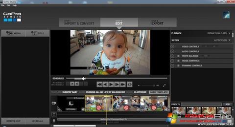 Στιγμιότυπο οθόνης GoPro Studio Windows 10