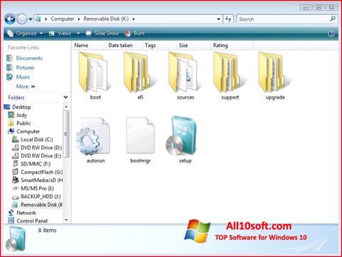 Στιγμιότυπο οθόνης Windows 7 USB DVD Download Tool Windows 10