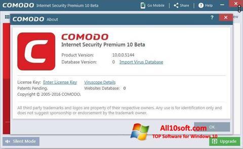 Στιγμιότυπο οθόνης Comodo Windows 10
