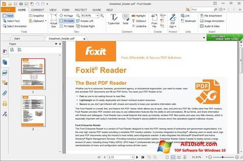 Στιγμιότυπο οθόνης Foxit Reader Windows 10