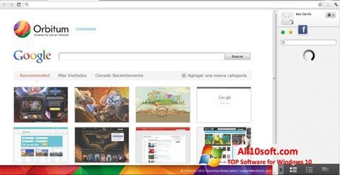 Στιγμιότυπο οθόνης Orbitum Windows 10