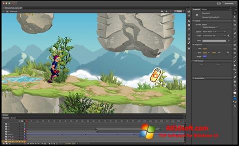 Στιγμιότυπο οθόνης Adobe Flash Professional Windows 10