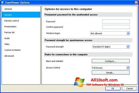 Στιγμιότυπο οθόνης TeamViewer Windows 10