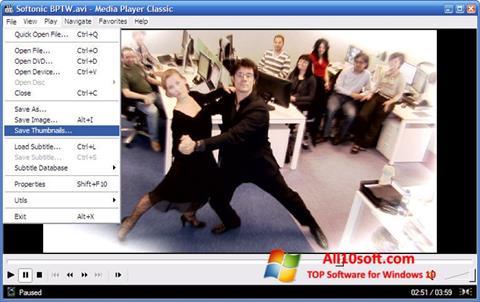 Στιγμιότυπο οθόνης Media Player Classic Windows 10