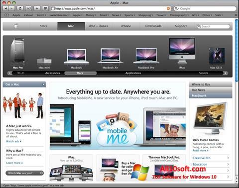 Στιγμιότυπο οθόνης Safari Windows 10