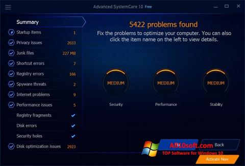 Στιγμιότυπο οθόνης Advanced SystemCare Free Windows 10