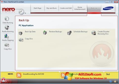 Στιγμιότυπο οθόνης Nero Windows 10
