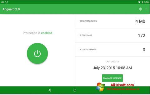 Στιγμιότυπο οθόνης Adguard Windows 10