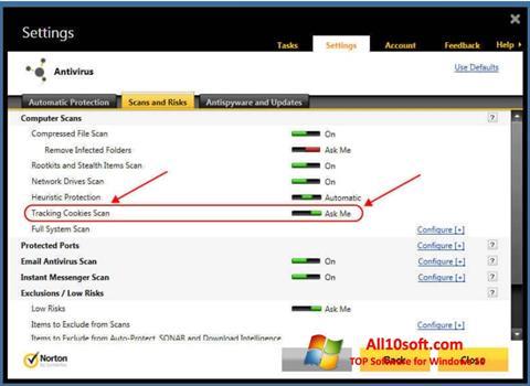 Στιγμιότυπο οθόνης Norton Windows 10