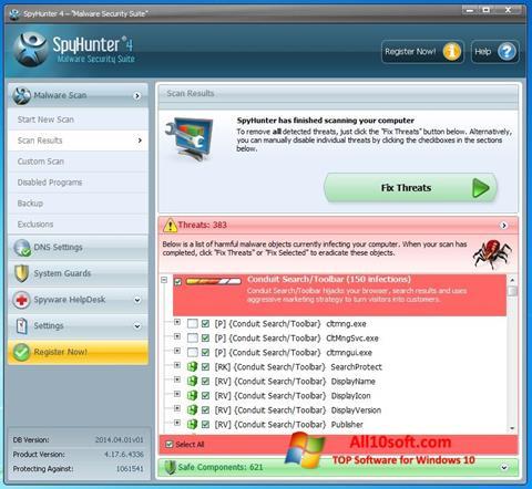Στιγμιότυπο οθόνης SpyHunter Windows 10