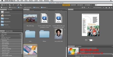 Στιγμιότυπο οθόνης Adobe Bridge Windows 10