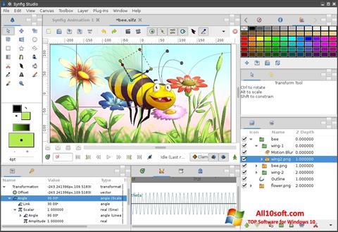 Στιγμιότυπο οθόνης Synfig Studio Windows 10