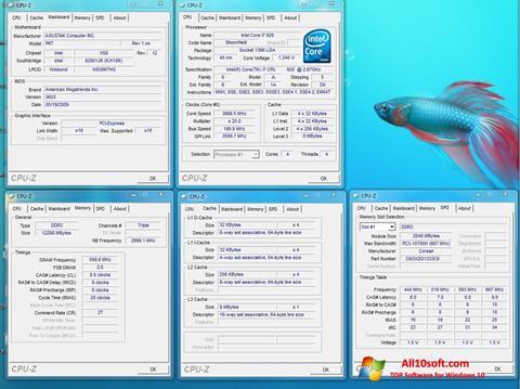 Στιγμιότυπο οθόνης CPU-Z Windows 10