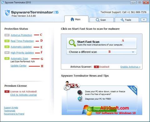 Στιγμιότυπο οθόνης Spyware Terminator Windows 10