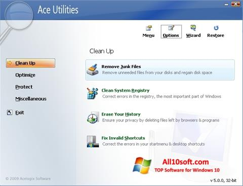 Στιγμιότυπο οθόνης Ace Utilities Windows 10