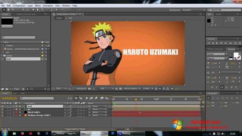 Στιγμιότυπο οθόνης Adobe After Effects Windows 10