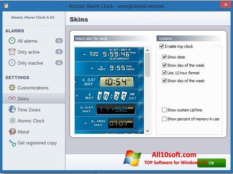 Στιγμιότυπο οθόνης Atomic Alarm Clock Windows 10