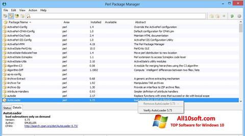 Στιγμιότυπο οθόνης ActivePerl Windows 10