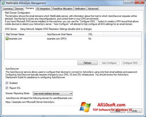Στιγμιότυπο οθόνης Microsoft ActiveSync Windows 10