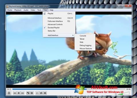Στιγμιότυπο οθόνης VLC Media Player Windows 10