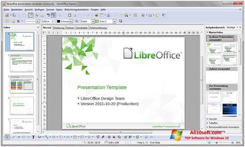 Στιγμιότυπο οθόνης LibreOffice Windows 10
