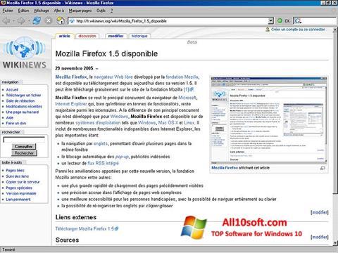 Στιγμιότυπο οθόνης Mozilla Firefox Windows 10