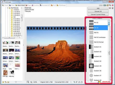 Στιγμιότυπο οθόνης PhotoScape Windows 10