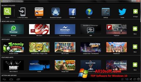 Στιγμιότυπο οθόνης BlueStacks Windows 10