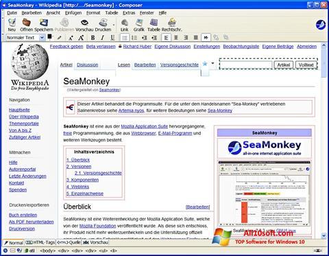 Στιγμιότυπο οθόνης SeaMonkey Windows 10