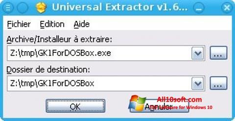 Στιγμιότυπο οθόνης Universal Extractor Windows 10