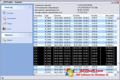 Στιγμιότυπο οθόνης DUTraffic Windows 10