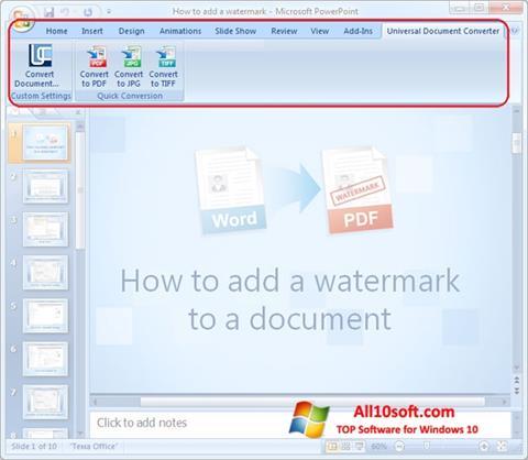 Στιγμιότυπο οθόνης Microsoft PowerPoint Windows 10