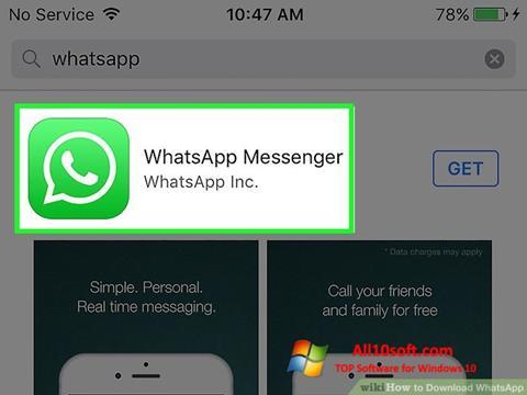 Στιγμιότυπο οθόνης WhatsApp Windows 10