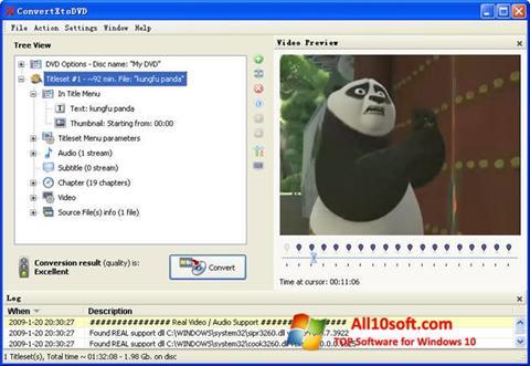Στιγμιότυπο οθόνης ConvertXToDVD Windows 10
