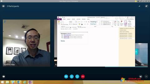 Στιγμιότυπο οθόνης Skype for Business Windows 10