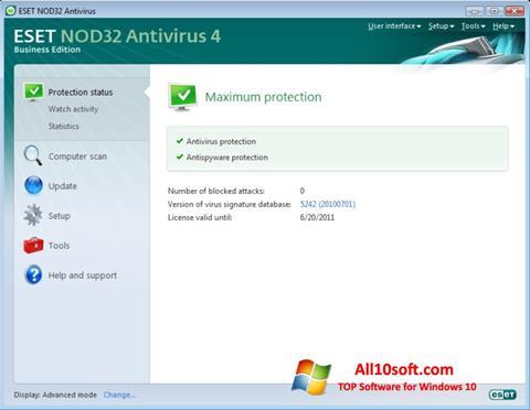 Στιγμιότυπο οθόνης ESET NOD32 Windows 10