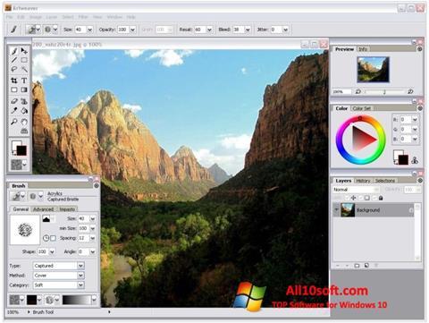 Στιγμιότυπο οθόνης Artweaver Windows 10