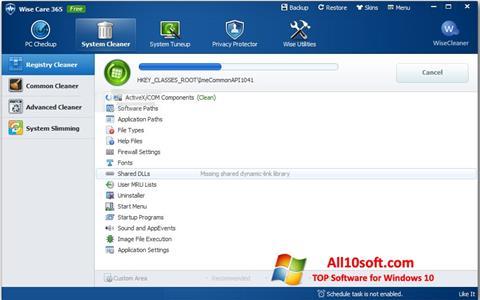 Στιγμιότυπο οθόνης Wise Care 365 Windows 10
