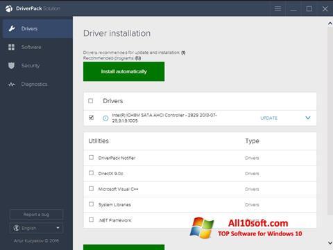 Στιγμιότυπο οθόνης DriverPack Solution Windows 10