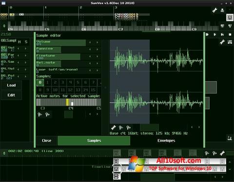 Στιγμιότυπο οθόνης SunVox Windows 10