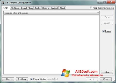Στιγμιότυπο οθόνης Ad Muncher Windows 10