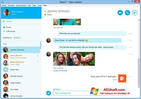 Στιγμιότυπο οθόνης Skype Windows 10