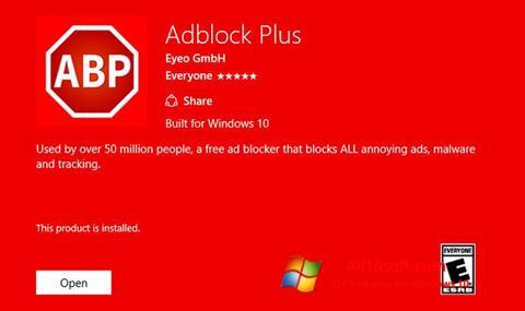 Στιγμιότυπο οθόνης Adblock Plus Windows 10